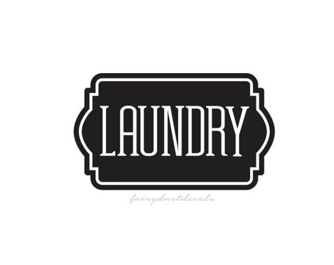 10% off sale Laundry Door Decal, canister label, vinyl sticker for home laundry