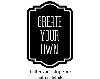 Create Your Own Decal, pantry storage label sticker, free shipping