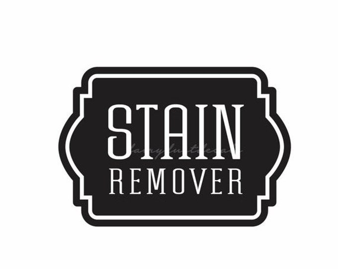 10% off sale Laundry Stain Remover Decal, vinyl label for glass canister, laundry room organization, farmhouse laundry