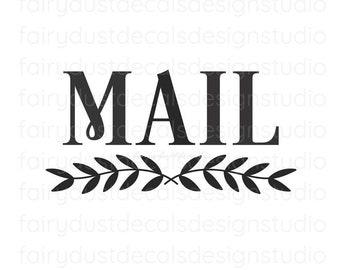 Mail Decal, command center, storage and organization, mail vinyl decal for container, mail sticker, farmhouse kitchen decor
