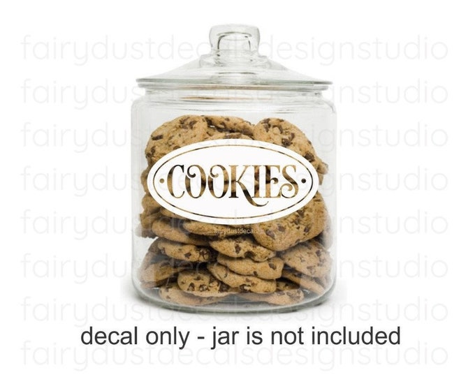 Cookie Jar Decal, Canister Label, Farmhouse Kitchen and Pantry Sticker, Cookies Decal, Home Baking Pantry Organization, Cookies