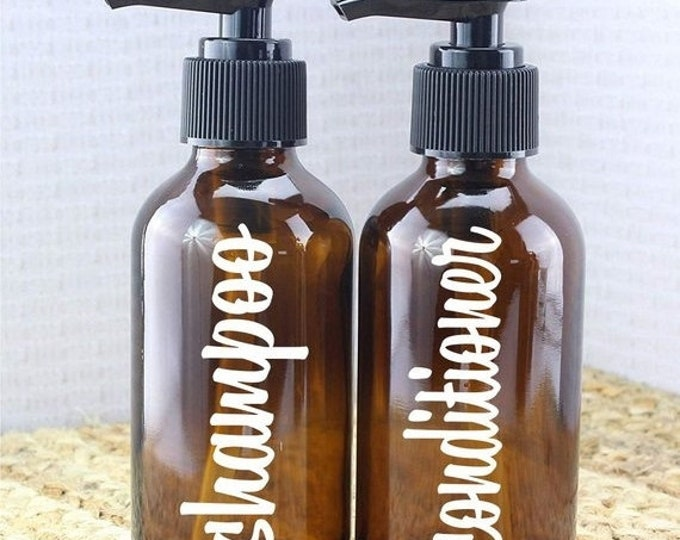 10% off sale Shampoo and Conditioner label for bottle, vinyl decal