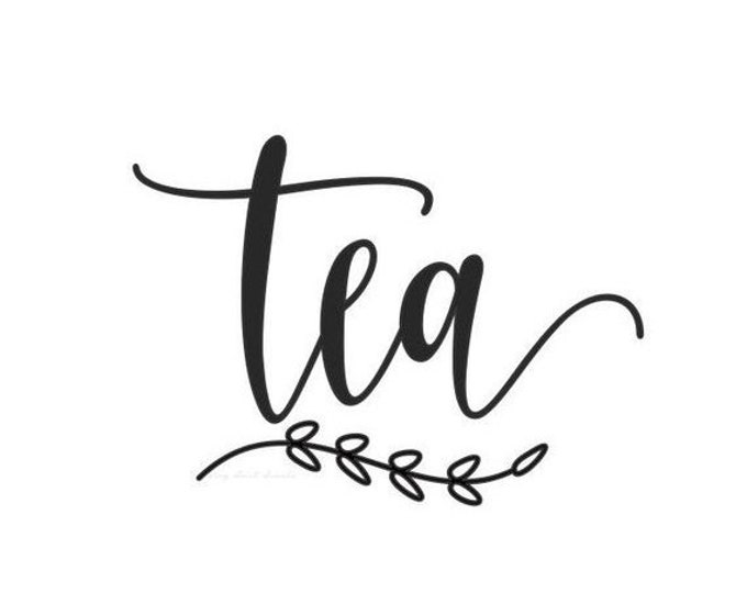 10% off sale Tea Decal, canister sticker, home pantry organization, kitchen food storage label