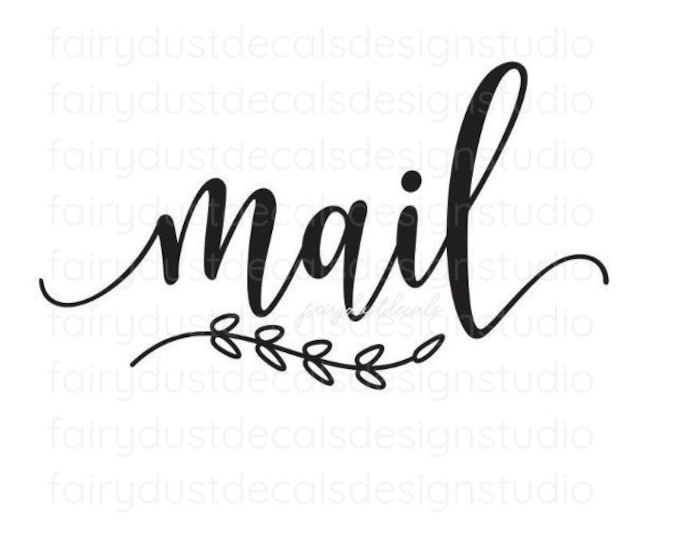Mail Decal, home and office organization, mail label for container, mail vinyl decal