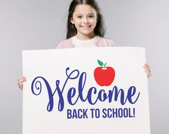 Welcome Back to School Decal, Classroom Decor, teacher door decal, first day of school decor