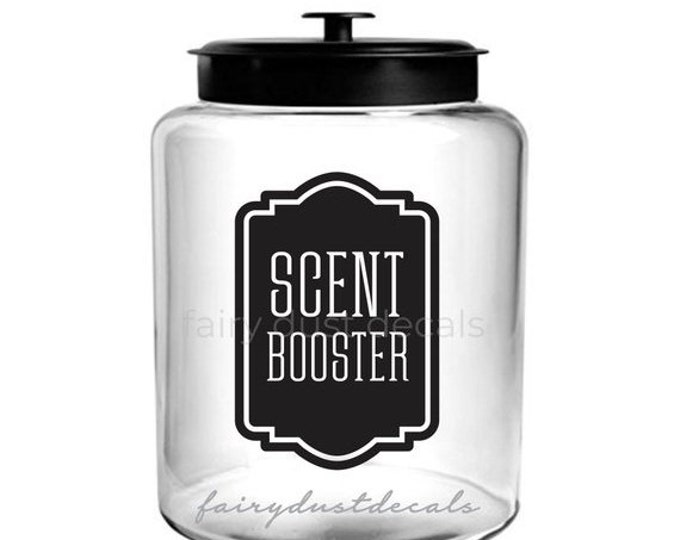 10% off sale Scent Booster Laundry Canister Label, Farmhouse Laundry vinyl decal