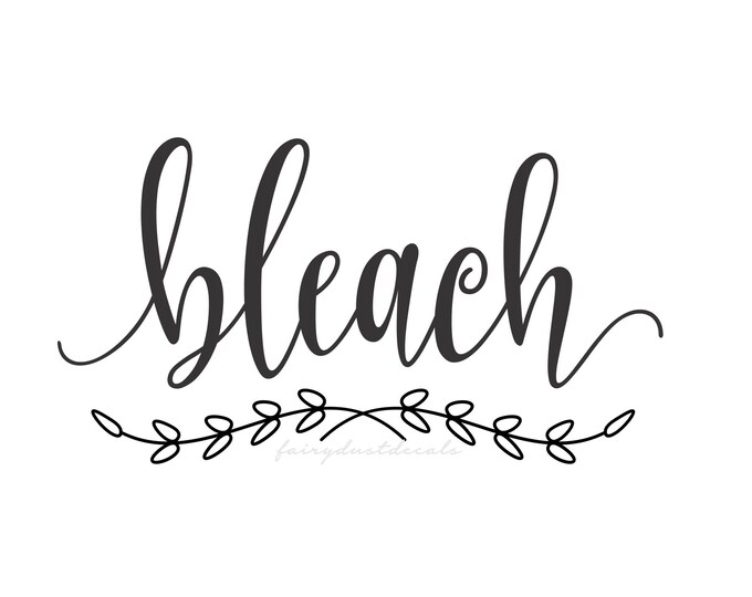 Bleach Decal, Laundry Cleaner Canister Label, Bleach Label, Vinyl Letters, Farmhouse Laundry, Bleach Vinyl Sticker Decal, Laundry Room Decor