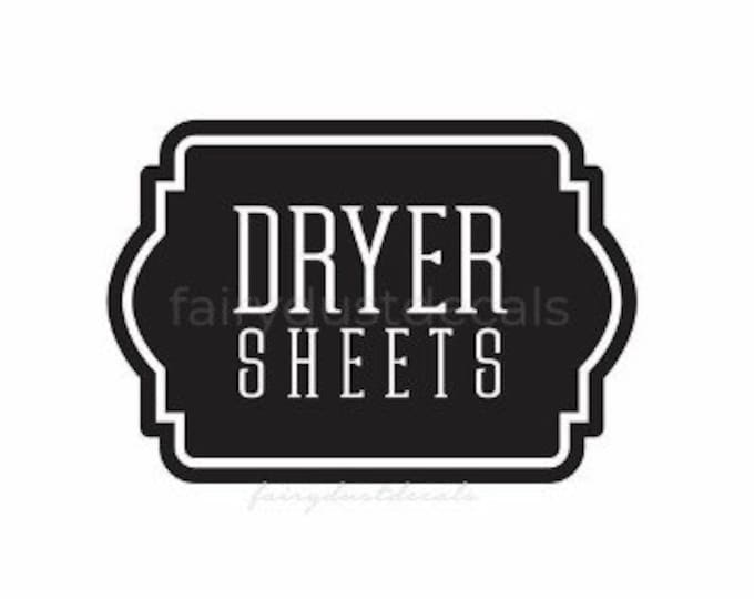 Laundry Dryer Sheets Decal, Farmhouse Laundry Room Decor, Canister Label