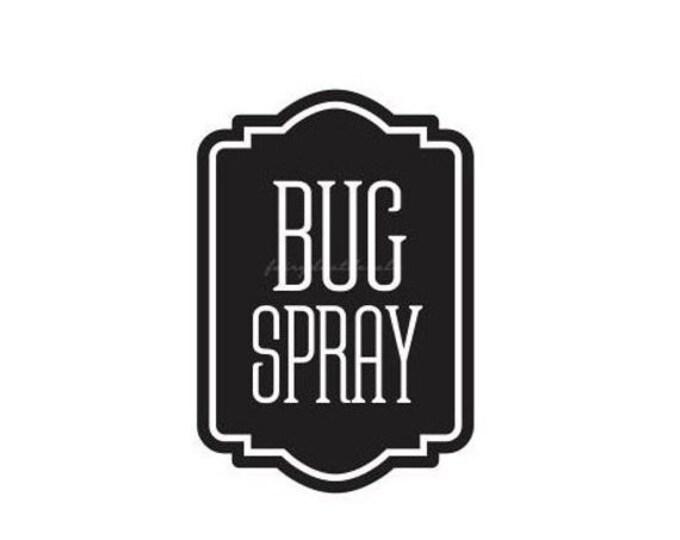 10% off sale Bug Spray Bottle Label, vinyl decal for spray bottle, essential oil decal, bug spray vinyl decal