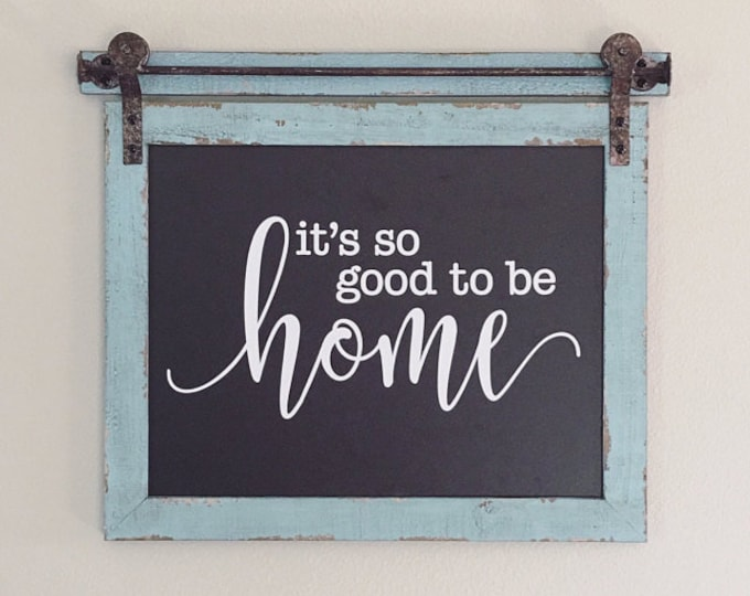 Home decal, It's so good to be home sticker, home sweet home, wall decal, vinyl wall sticker, farmhouse style