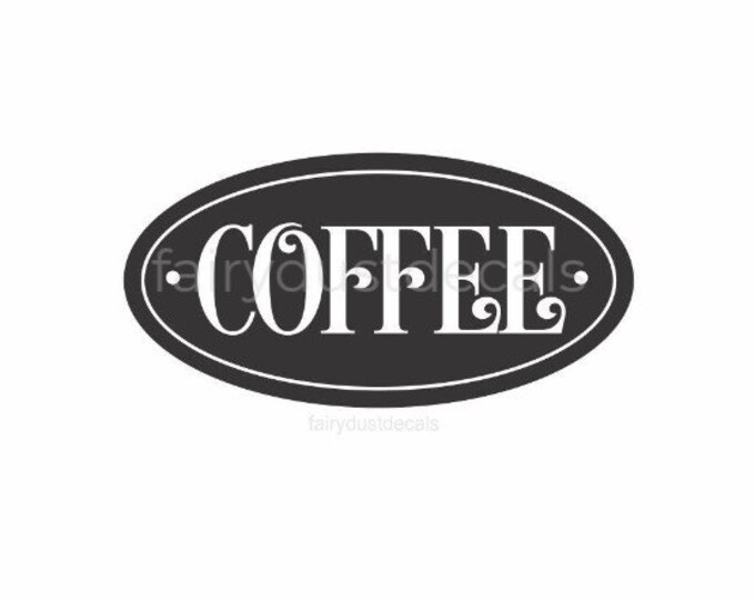 Coffee Decal, coffee canister label, vinyl sticker, coffee lover label, coffee bar vinyl decal