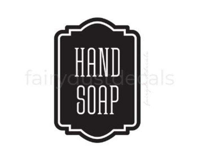 Hand Soap Dispenser Decal for Bathroom, Farmhouse Bathroom Decor, Decal for Hand Soap Dispenser, liquid soap label for glass bottle