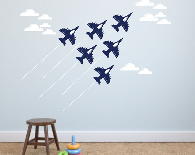 Jet Airplane Wall Decal, military jet planes, fighter jet decals