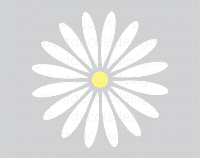 Daisy Wall Decals, Set of 12 Flower Decals for baby nursery bedroom