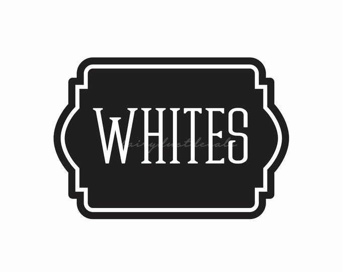 Laundry Hamper Label, whites decal, vinyl sticker for laundry basket, whites vinyl decal, farmhouse laundry