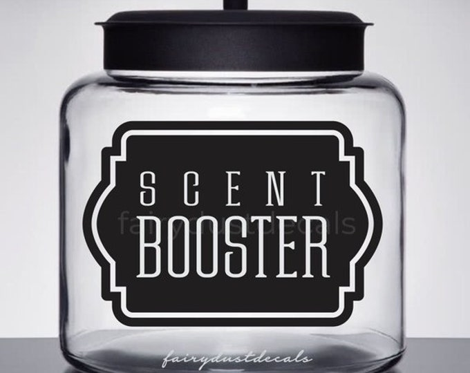 10% off SALE Scent Booster Vinyl Decal for Laundry Room, Canister Label