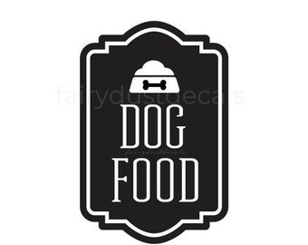 10% off sale Dog Food Container Decal, Sticker for Dog Food Canister, Dog Lover Home Decor