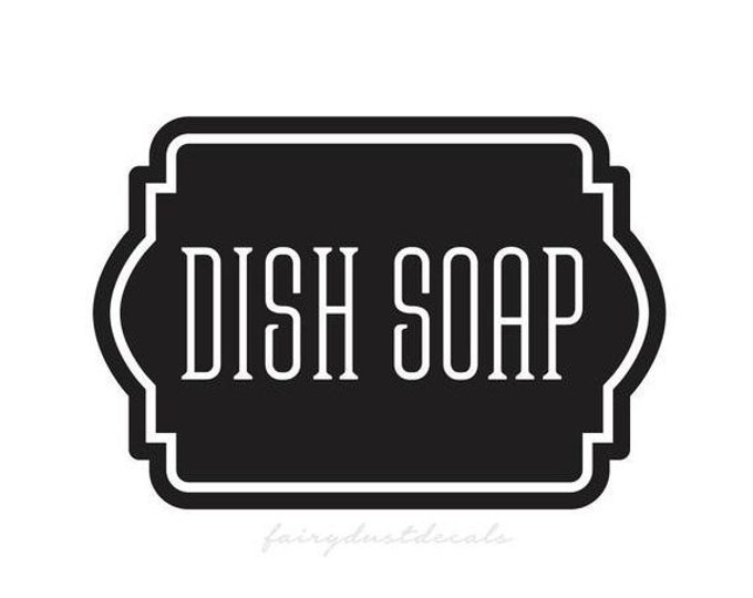 10% off sale Dish Soap Decal, Container Label for Kitchen Pantry Bath, Soap Decal, Farmhouse Kitchen, Farmhouse Bath, Dish Soap Vinyl Decal