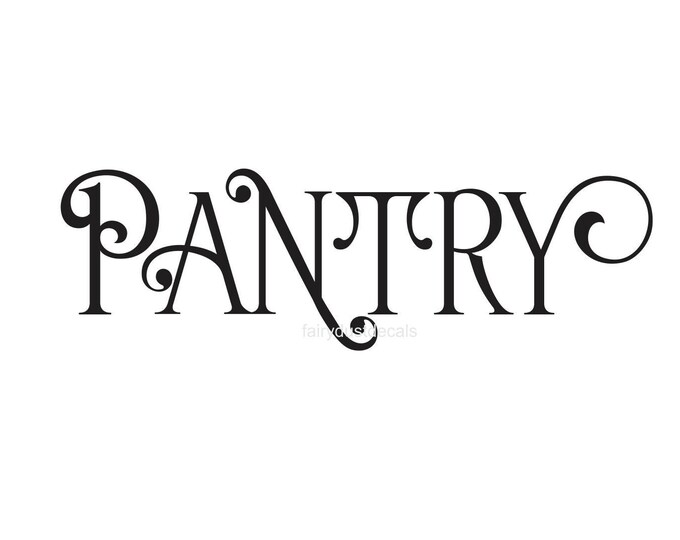 Pantry decal, kitchen wall decals, pantry sticker, home wall stickers, vinyl letters for cupboard, kitchen pantry decal, door decal, kitchen