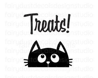 Cat Treats Decal, pet food container label