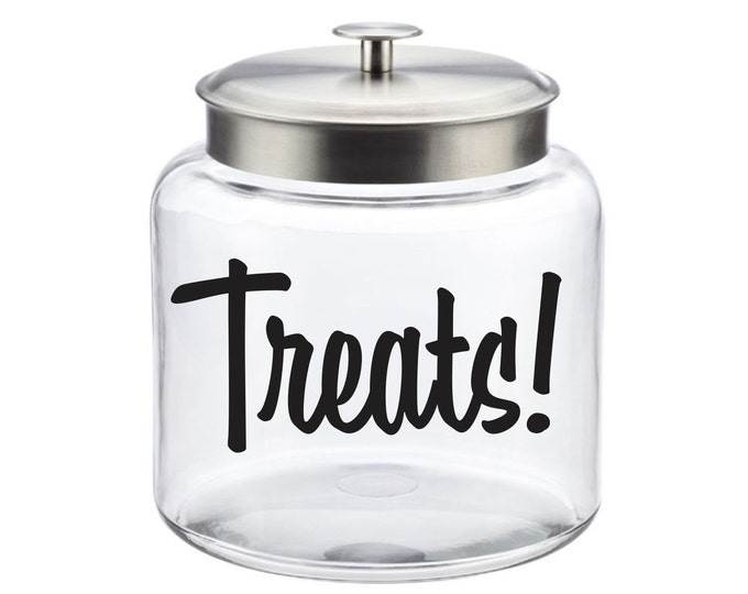 10% off SALE Treats Canister Label, dog or cat treats vinyl decal, personalized pet treats decal