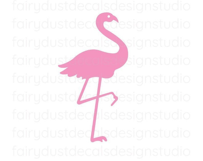 Pink Flamingo Decals, tropical decor for wedding, flamingo stickers for cups, flamingo vinyl wall decals