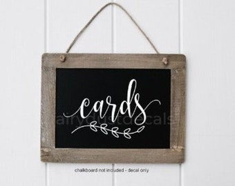 10% off sale Cards Decal, Wedding Gift Table, Cards Sticker, Make Your Own Sign, Rustic Farmhouse, Handwritten Script Letters, Sign Decal, C