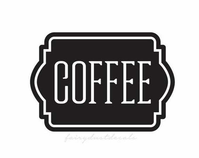 10% off sale Coffee Label for Kitchen Canister Set, Coffee Vinyl Decal Sticker, Pantry Organization