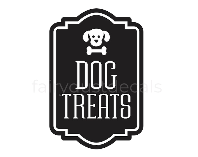 10% off SALE Dog Treats Container Decal, Sticker for Dog Treats Canister