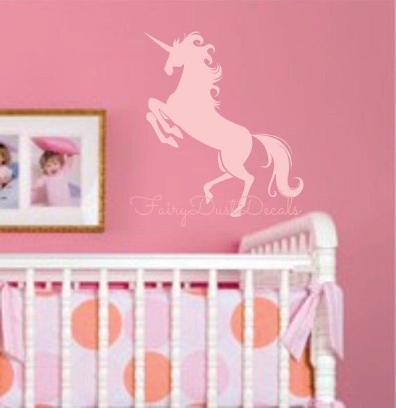 Items similar to unicorn wall decal horse wall decal for - Stuff for girls rooms ...