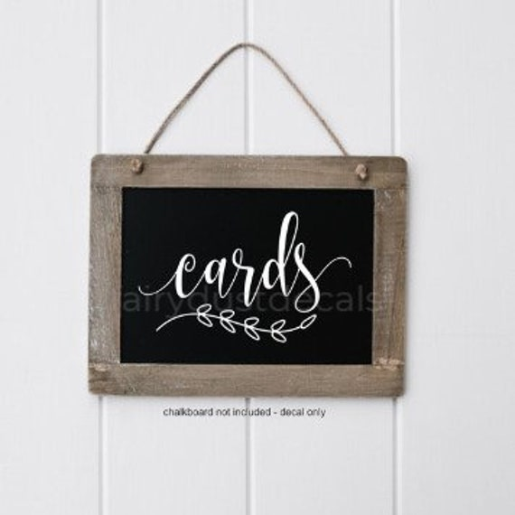 Make Your Own Wedding Gift: Cards Decal Wedding Gift Table Cards Sticker Make Your Own