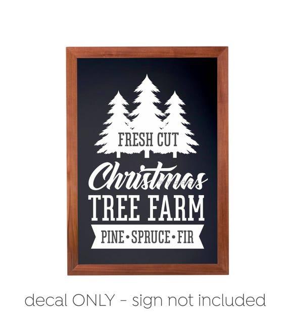 Christmas Tree Farm Logo.Christmas Tree Farm Sign Decal Computer Cut Vinyl Letters Shipping Included Original Design