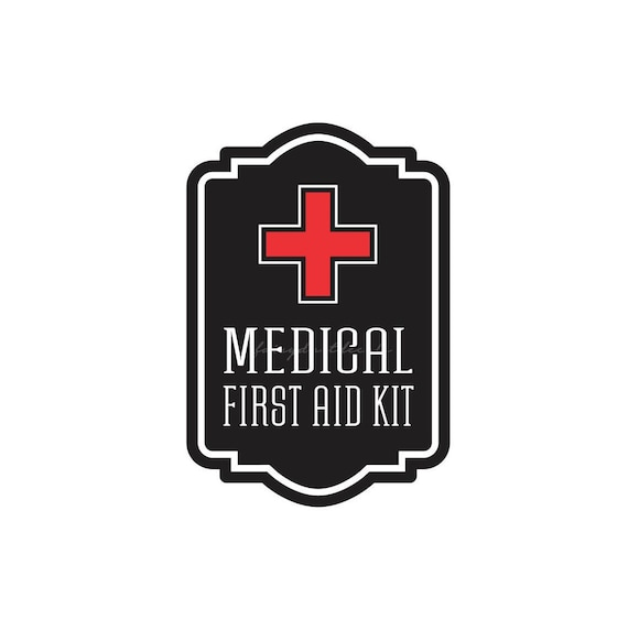 Medical First Aid Kit Label Vinyl Decal For School Nurse Etsy