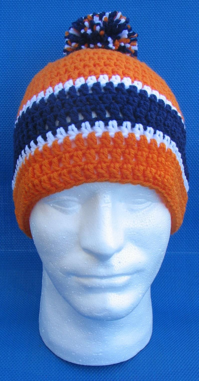 Denver Broncos Crocheted Skull Cap Beanie Game Day Gear image 0