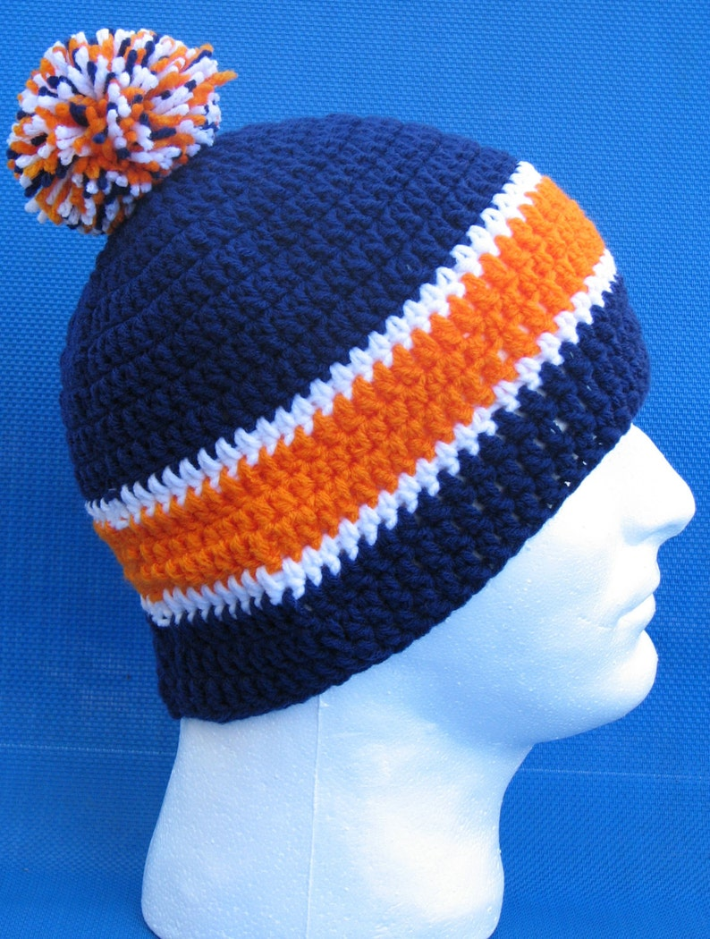 fc980539898 Denver Broncos Crocheted Skull Cap Beanie Game Day Gear