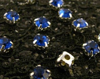 Chaton Montees - Sapphire (4mm or 5mm)