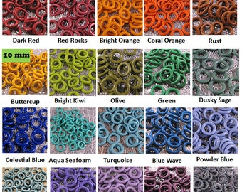 10mm EPDM Rubber O-Rings (ID: 6mm) - Choose color and quantity