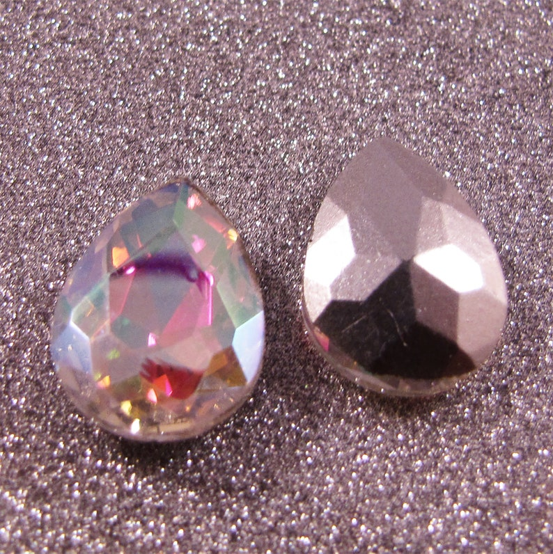 Pointed Back Rhinestone Drops 18mmx13mm Pkg of 4 Choose color
