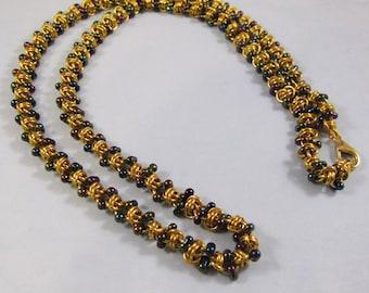 Barrel of Peanuts Necklace Kit - Gold & Iris