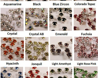 4mm Montee Beads  (Pkg of 30) - Choose color
