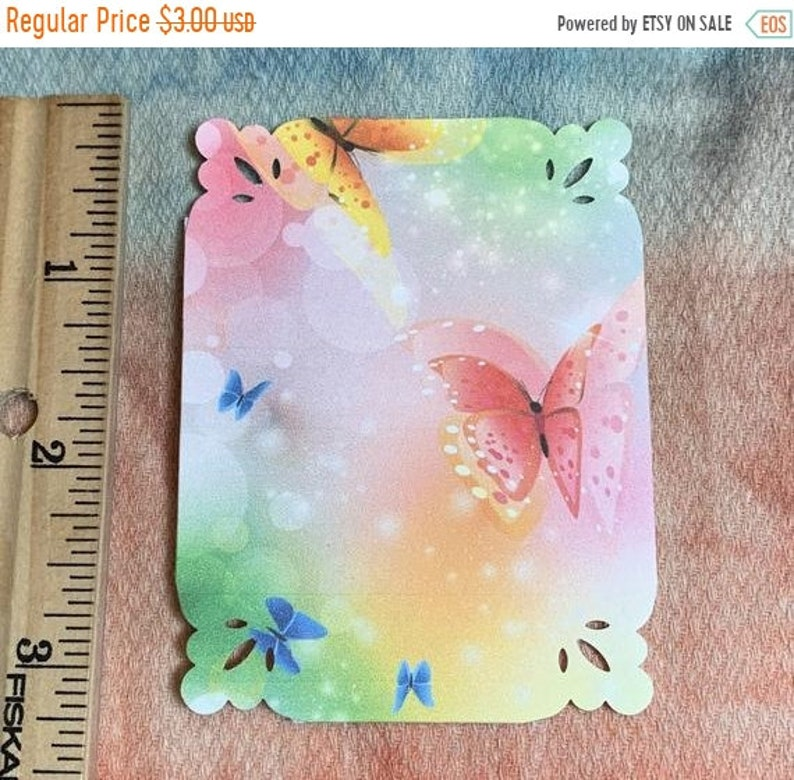blank back FALL  SALE 9 Colorful Butterfly Tags or for Card Making
