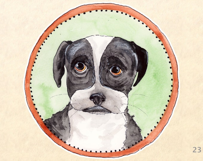 Dog Stickers, Cute Animal Stickers, Boston Terrier Stickers, Laptop Stickers, Water Bottle Stickers, Scrapbook Stickers, Macbook Decal
