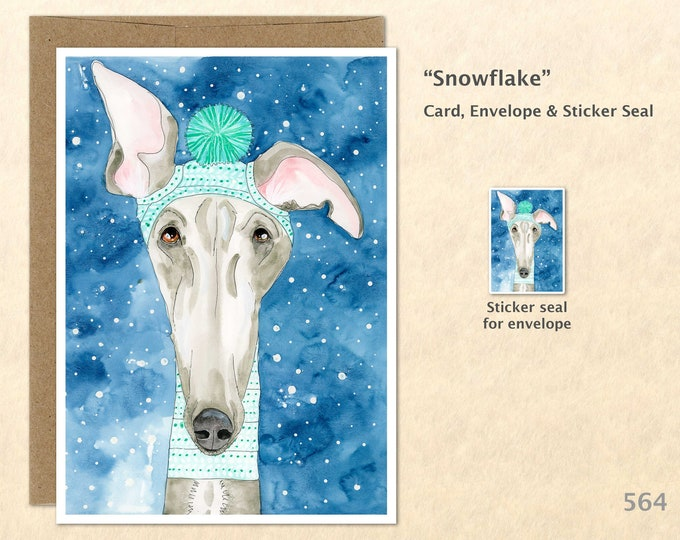 Whippet Dog Note Card, Dog Cards, Cute Animals, Fun Dogs, Blank Note Card, Art Cards, Greeting Cards