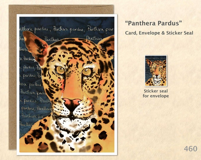 Panther Note Card, Panther Cards, Leopard Cards, Wild Cat Cards, Wild Animal Blank Note Card, Art Cards, Greeting Cards