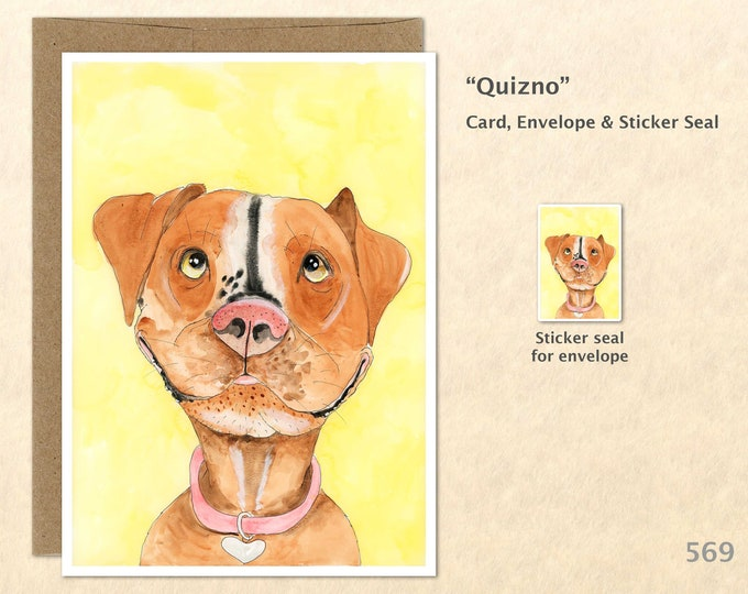 Goofy Dog Note Card, Dog Cards, Silly Dog Cards, Blank Note Card, Art Cards, Greeting Cards