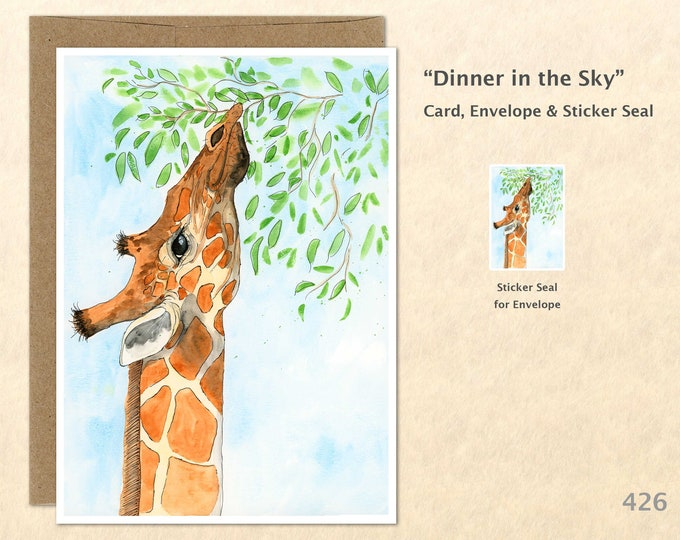 Giraffe Note Card, Animal Cards, Wildlife Cards, African Animal Cards, Blank Note Card, Art Cards, Greeting Cards