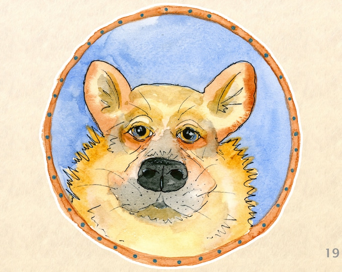 Dog Sticker Welsh Corgi Sticker Pembroke Welsh Corgi Sticker Laptop Sticker Water Bottle Sticker Scrapbooking Sticker