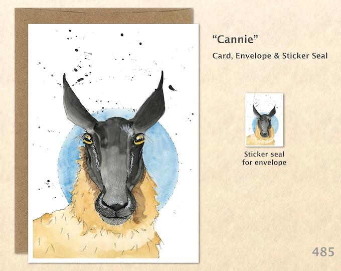 Sheep Note Cards, Farm Animal Cards, Farm Yard Animals, Scottish Sheep Cards, Note Cards, Blank Note Cards, Art Cards, Greeting Cards
