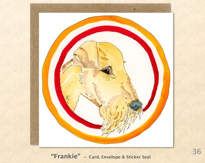 Airedale Card Dog Card Dog Greeting Cards Fun Dog Cards Blank Note Cards Art Cards