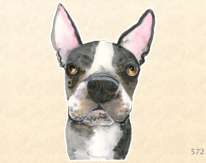 Dog Stickers, Boston Terrier Stickers, Cute Animal Stickers, Laptop Stickers, Water Bottle Stickers, Scrapbooking Stickers